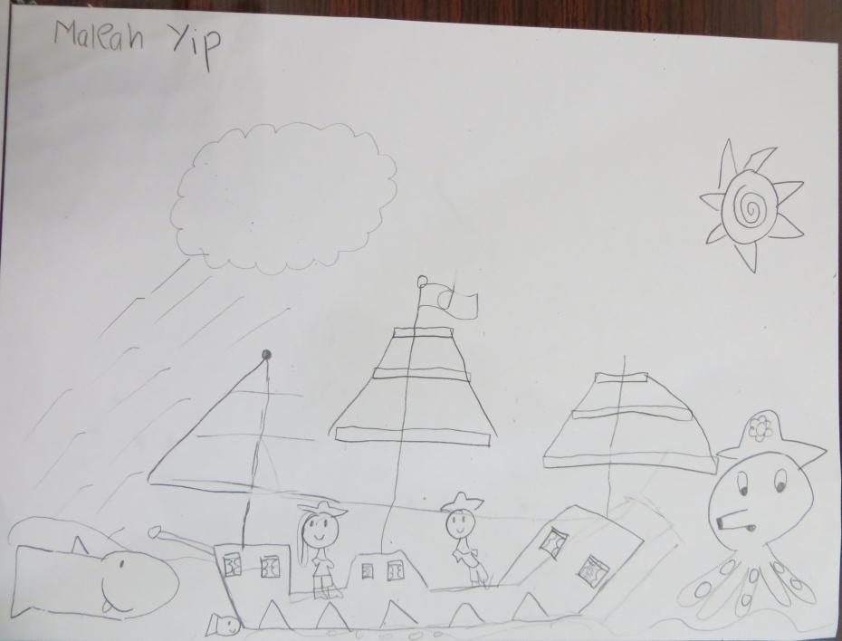 BPMCK Kids Octopus Drawing